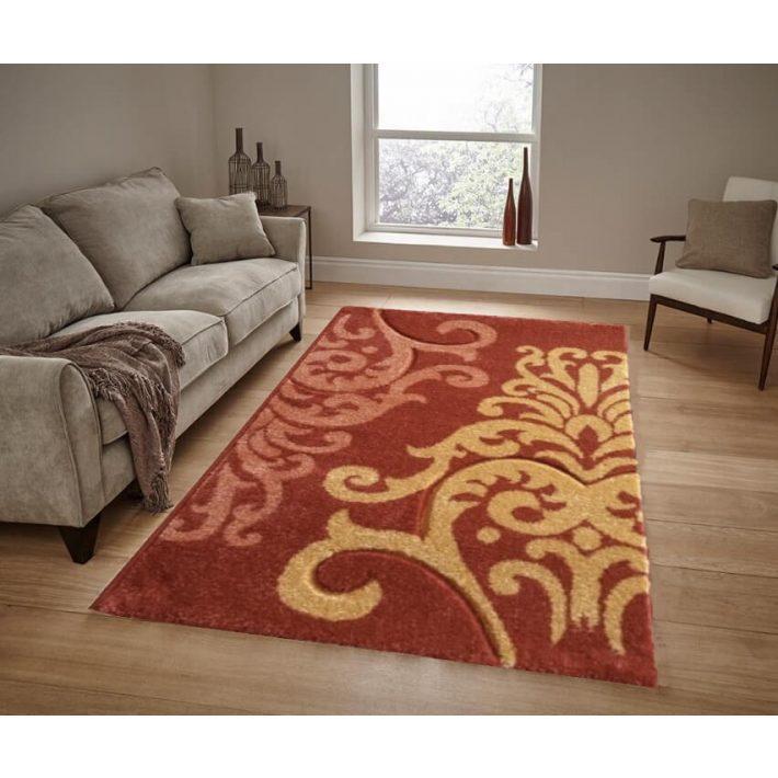 Sendy Narancssárga Virágos szőnyeg 150 x 230 cm