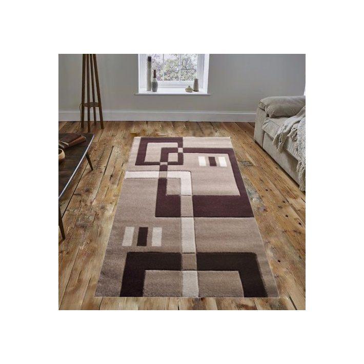 Henna Nyírt barna-bézs szőnyeg 80x150cm