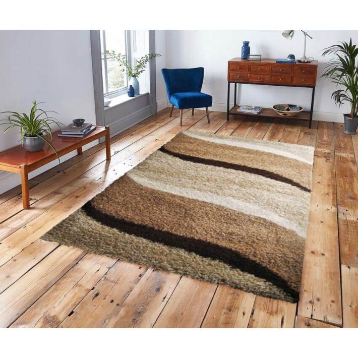 California arany barna bézs shaggy szőnyeg 125x200cm