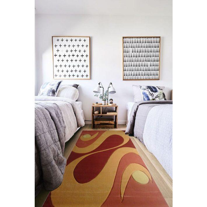 Maryann nyírt Terra Narancs szőnyeg 70x100cm