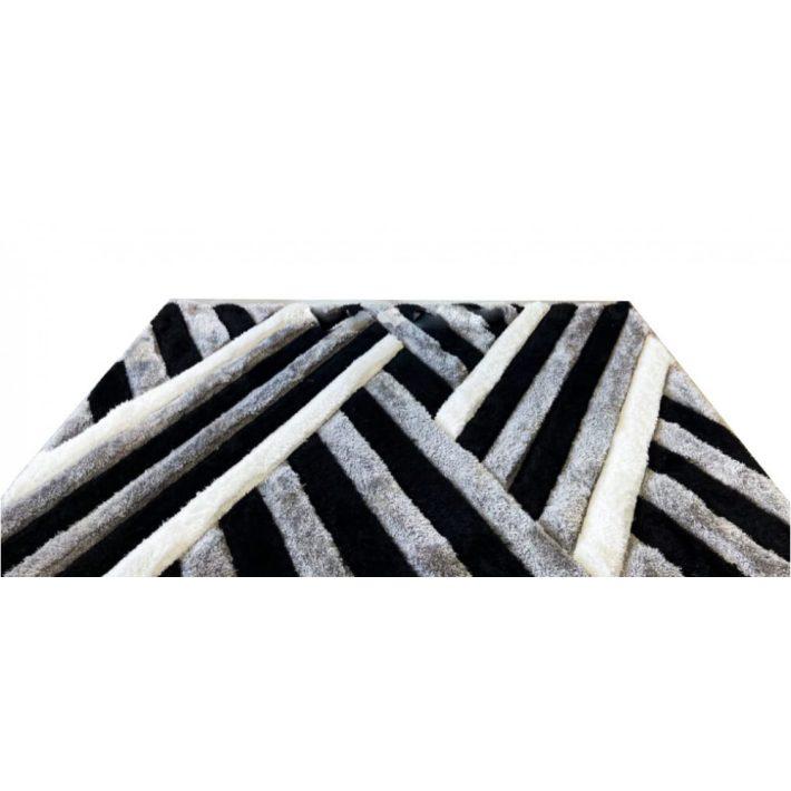 Castilla Fekete Fehér Shaggy szőnyeg 200 x 300 cm