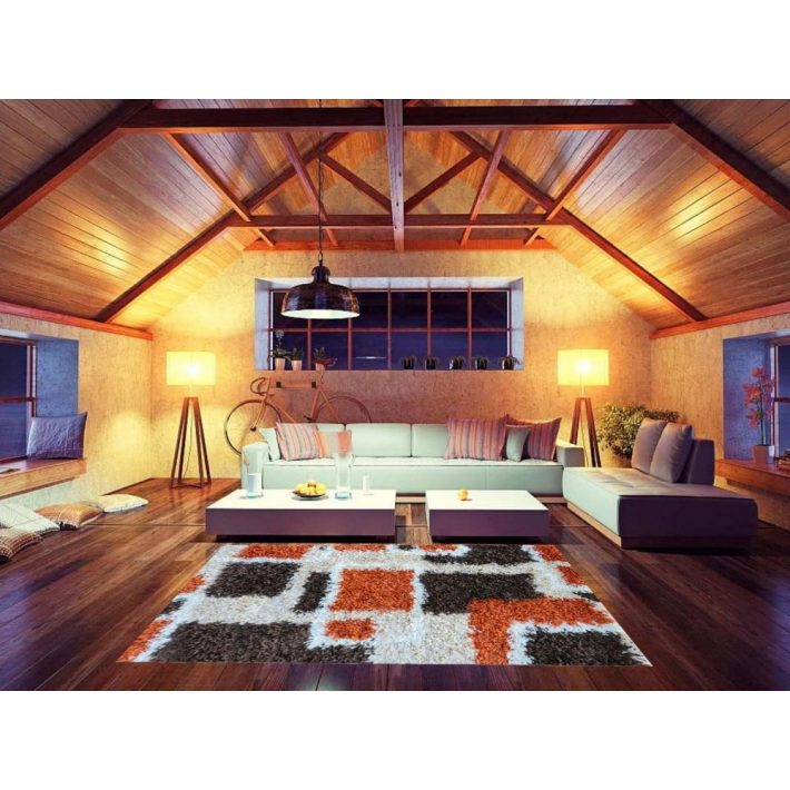 Design Narancssárga Shaggy Szőnyeg 160x220