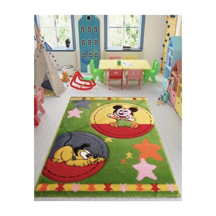 Zöld Mickey gyerekszőnyeg 150x230cm szőnyeg
