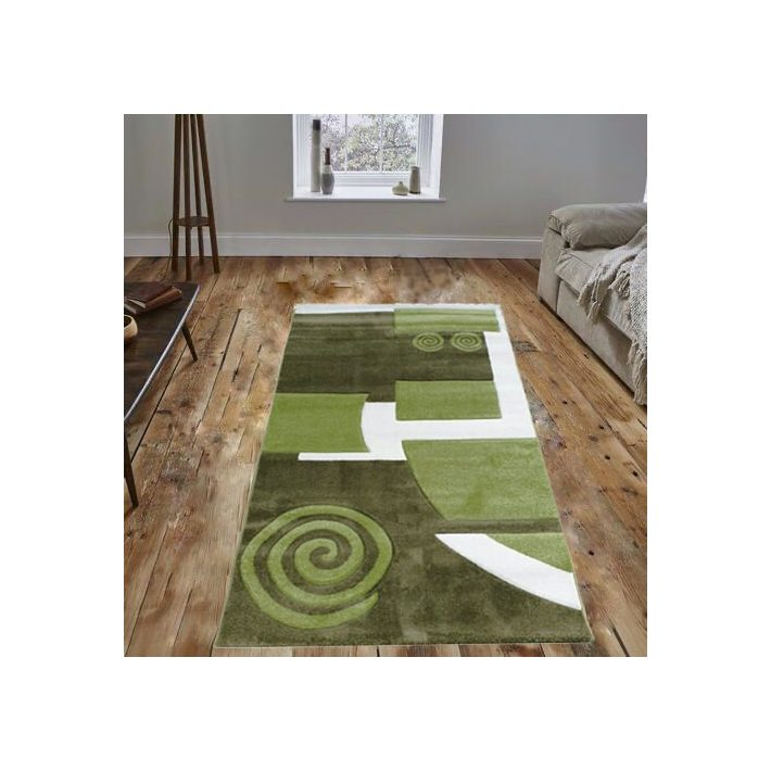 Dario Zöld Dombor Nyírt szőnyeg 80 x 150 cm