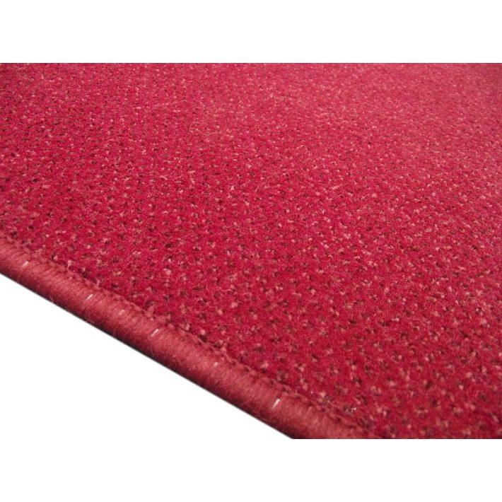 Rafael piros-bordó velúr irodai padlószőnyeg 4m széles