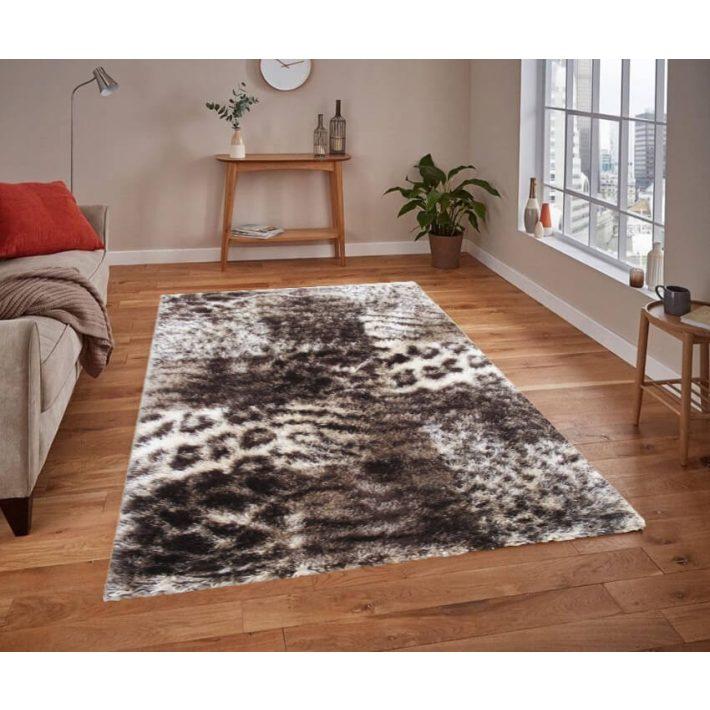Aranyos Zöld-Bézs Shaggy szőnyeg 120 x 170 cm