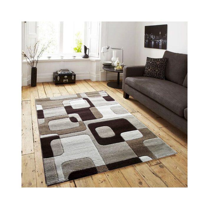 Domingo Vastag szőnyeg fehér-barna 120x170