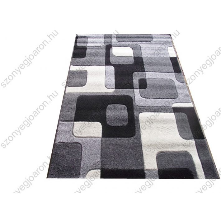 Romi Vastag szőnyeg fekete-szürke 120x170