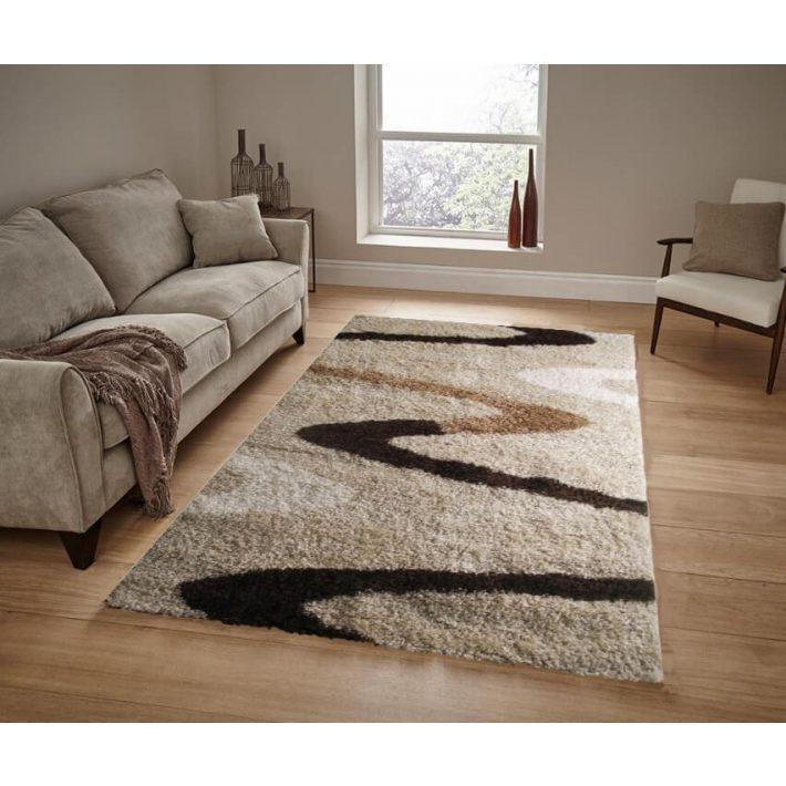 Atlanta barna arany bézs shaggy szőnyeg 200x300cm