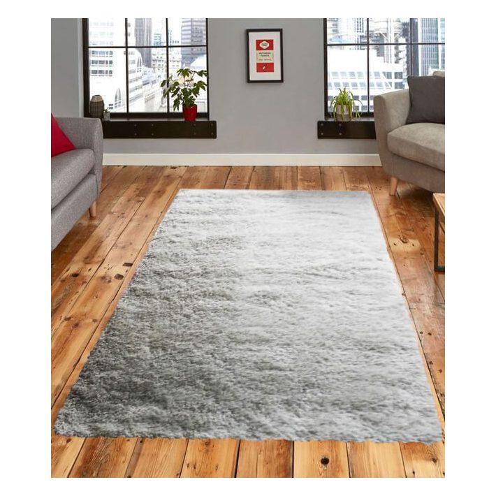 Hópihe tört fehér Shaggy szőnyeg 150x230