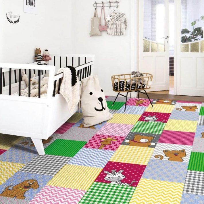 Méhecske lány gyerek rózsaszín padlószőnyeg 4m széles
