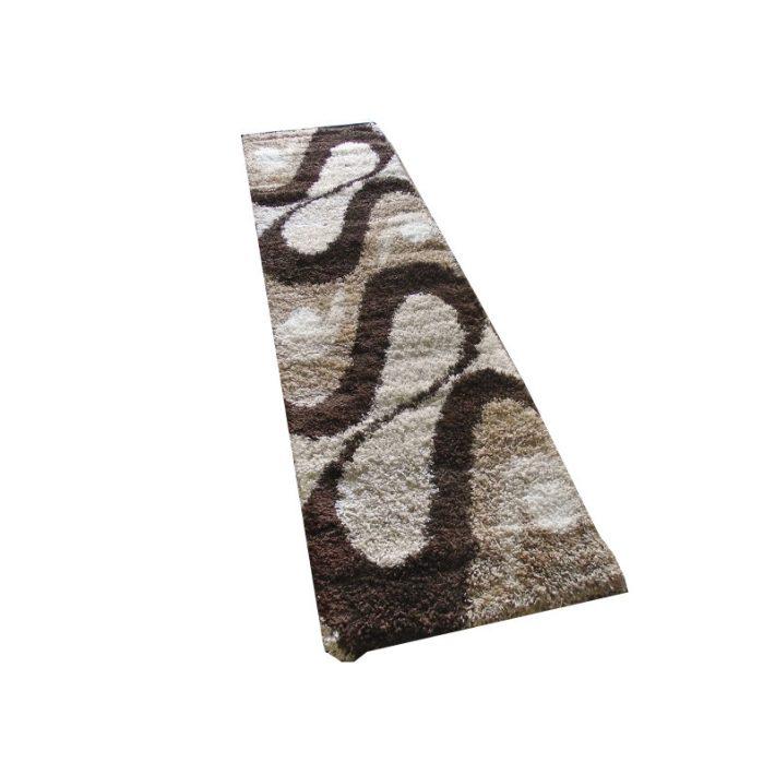 Bézs arany barna Shaggy futó szőnyeg 80x300cm