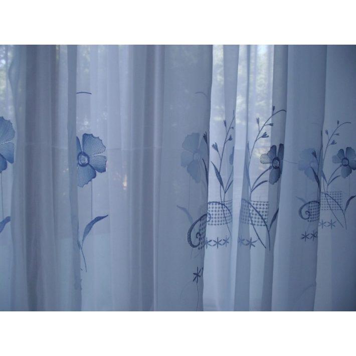 Veronika Kék Organza függöny 300 x 250 cm