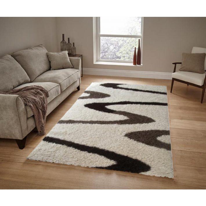 Stílusos Arany-Bézs Shaggy szőnyeg 80 x 150 cm
