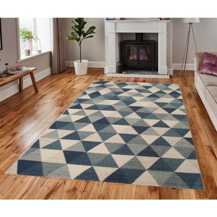 Juarez trendi bézs kék szőnyeg