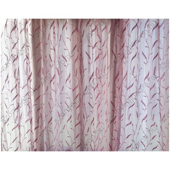 Harmatka Rózsaszín Organza Függöny csiptetős + bujtatós 300 x 250 cm