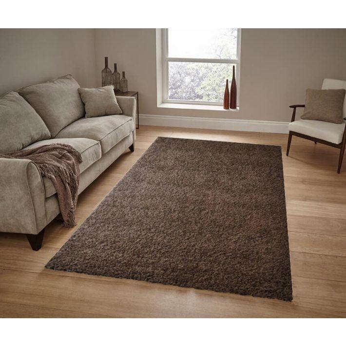 Brendon Barna Shaggy szőnyeg 200 x 300 cm
