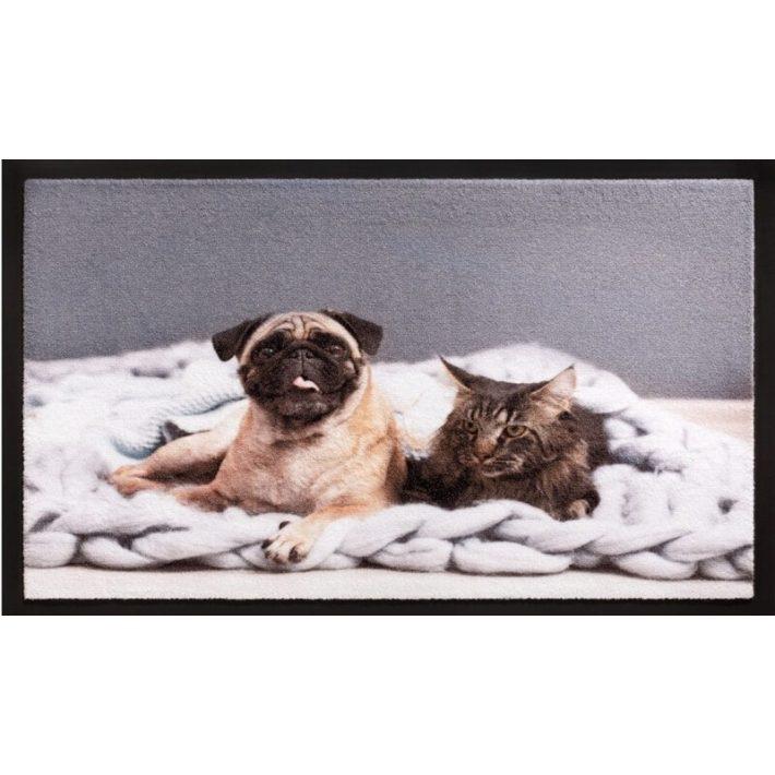 Virág Dekor mintás szövet-gumi lábtörlő