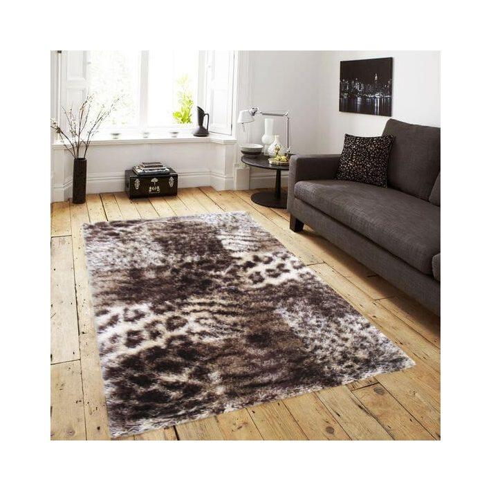 Bohókás Drapp-Barna Shaggy szőnyeg 160 x 220 cm