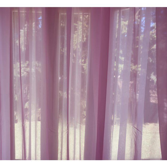 Barbara Rózsaszín Organza Készfüggöny 300 x 250 cm