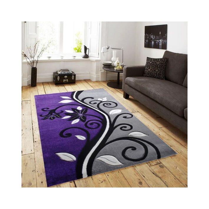 Róma Nyírt Lila Szürke szőnyeg 70 x 100 cm