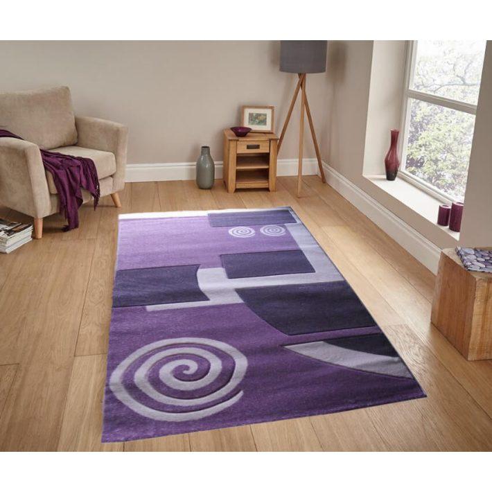 Rena Nyírt Lila szőnyeg 70 x 100 cm