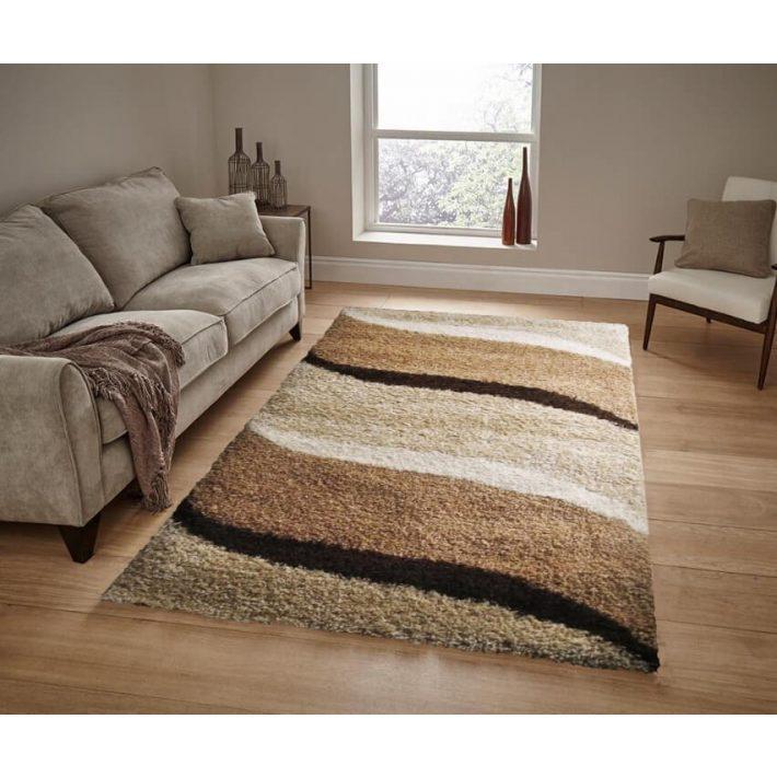 Bravo Shaggy szőnyeg Arany - krém színben 150x230