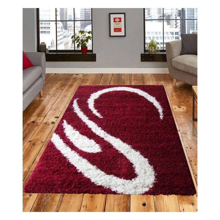 Zamora Shaggy Meggypiros szőnyeg 125 x 200 cm