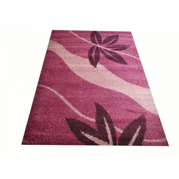 Trendi Lila-Rózsaszín Shaggy szőnyeg 200 x 280 cm