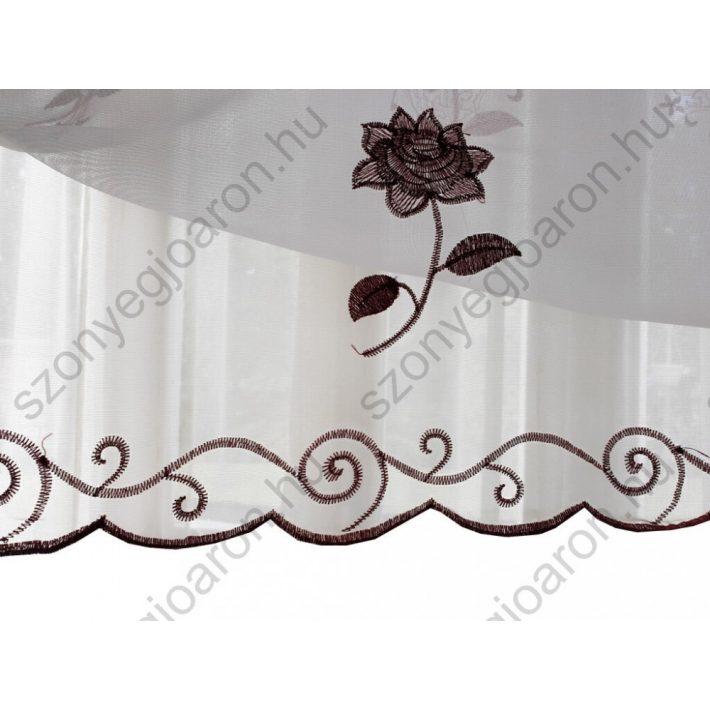 Gilda Fehér Virágos Organza Függöny 300 x 270 cm