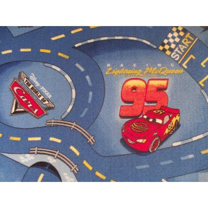 Autóverseny-pálya mintás gyerek padlószőnyeg 4m széles