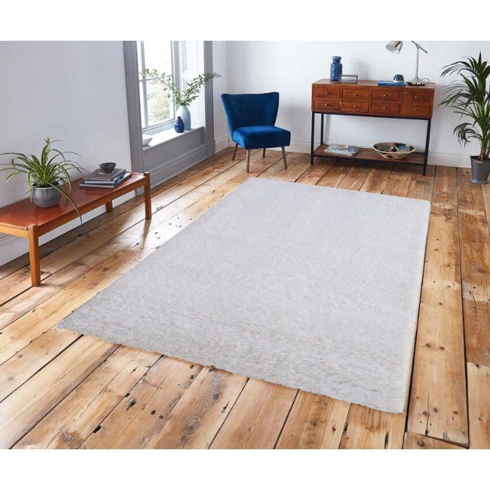 Oldham micro fehér-kém shaggy szőnyeg