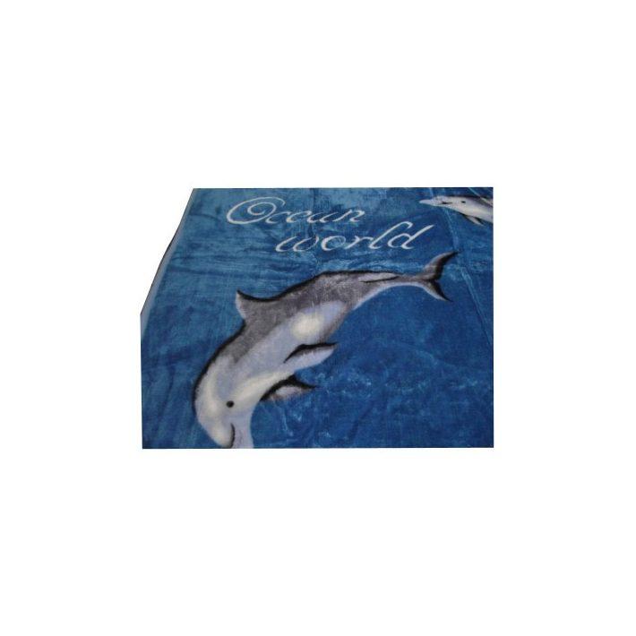 Don Kék delfines Ágytakaró Pléd 200 x 240 cm