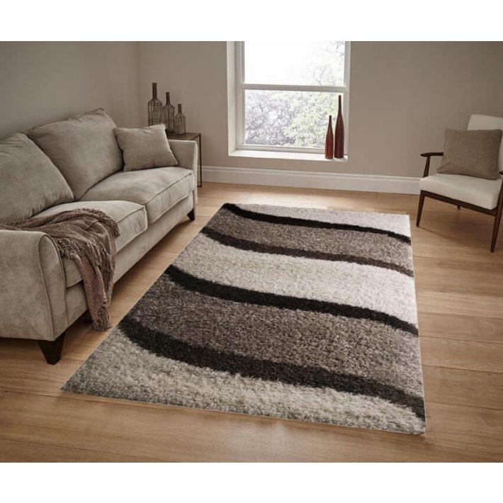 Elegant Shaggy szőnyeg Bézs Barna 125x200