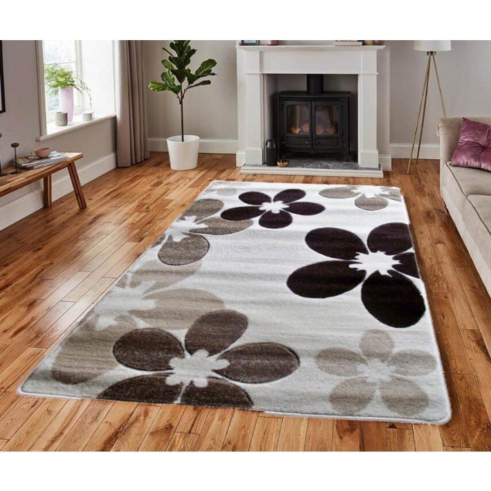 Bojána Virágmintás krém barna szőnyeg  160x220cm