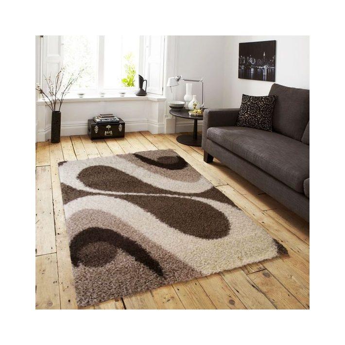 Pop vastag Barna-Krém Shaggy szőnyeg 80 x 150 cm
