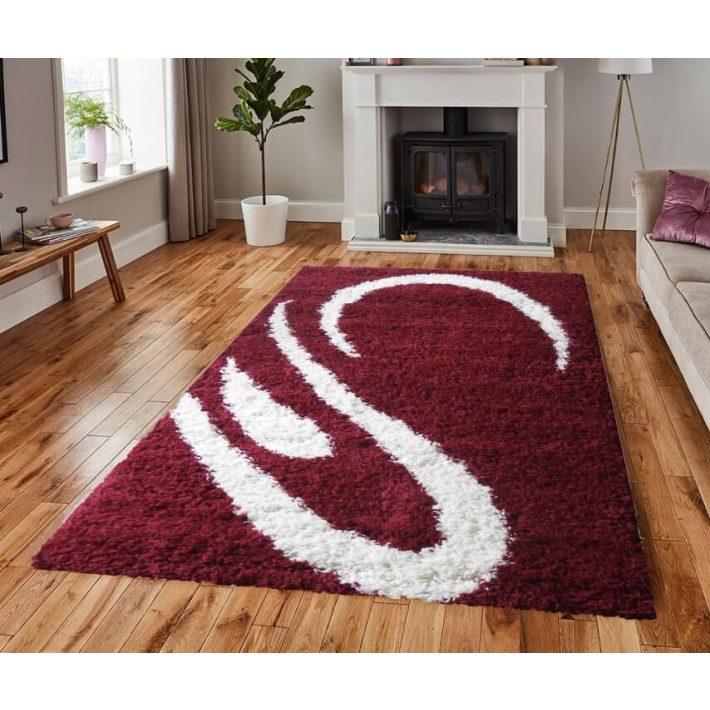 Carpi Shaggy Meggypiros szőnyeg 80 x 150 cm