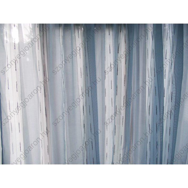 Kék Csíkos Organza kész Függöny 250 x 250 cm