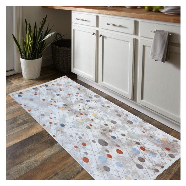 Zséda mosható Szürke pöttyös szőnyeg 200 x 290 cm