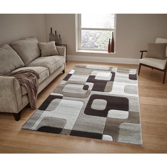 Domingo nyírt bézs barna szőnyeg 160x220cm