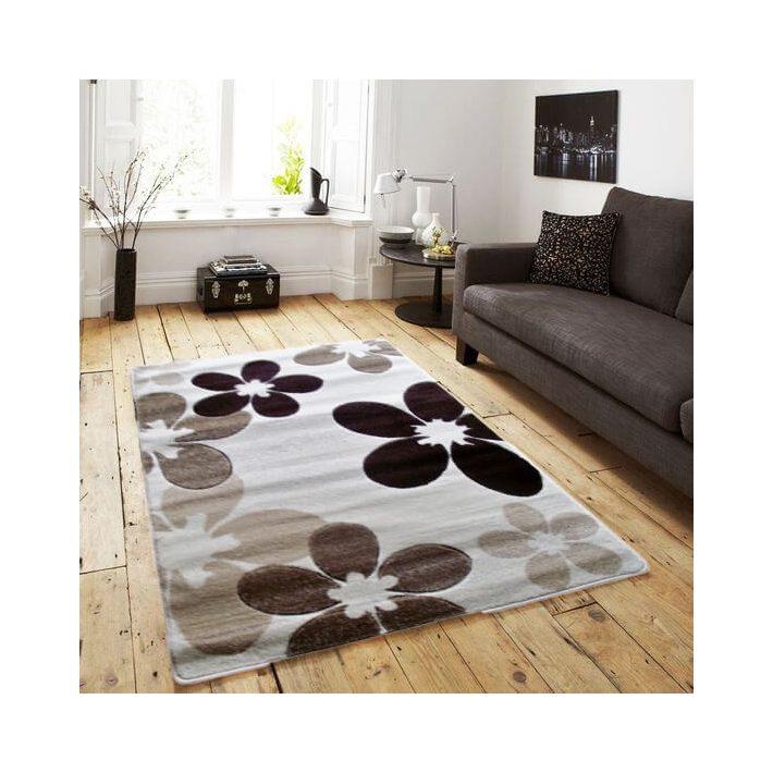 Tímea Bézs Barna Nyírt szőnyeg 120 x 170 cm