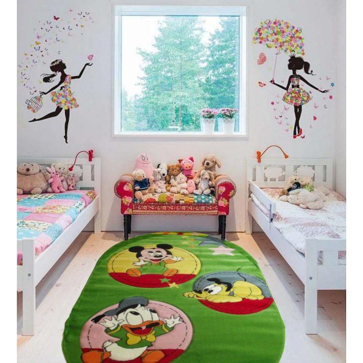Mickey Álmai  Zöld Ovál Gyerekszőnyeg 125 x 200 cm