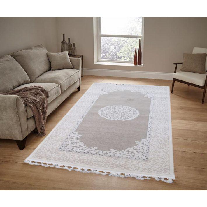 Barakaldo minőségi rojtos krém bézs szőnyeg