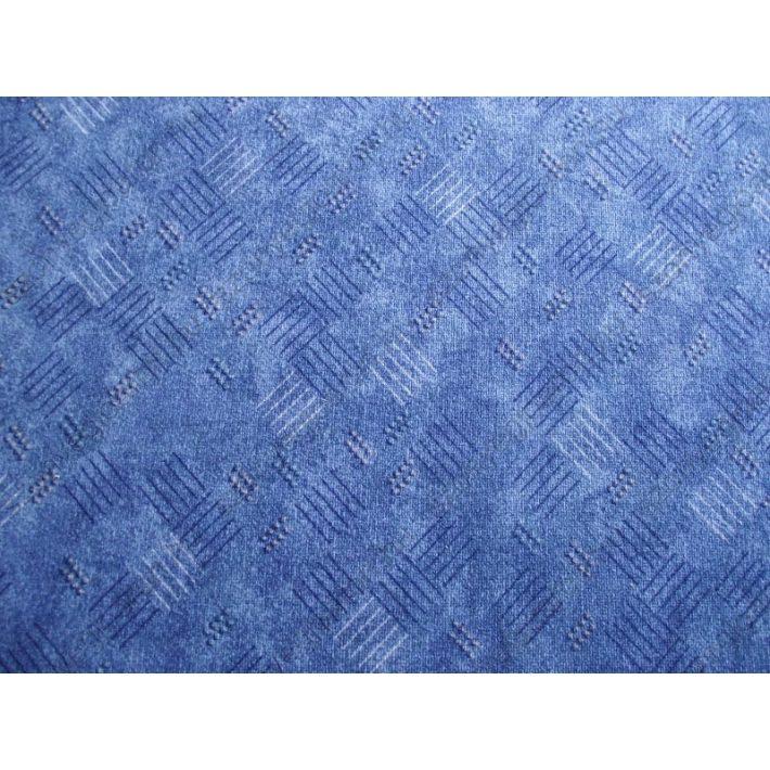 Kék padlószőnyeg modern mintával 4m széles