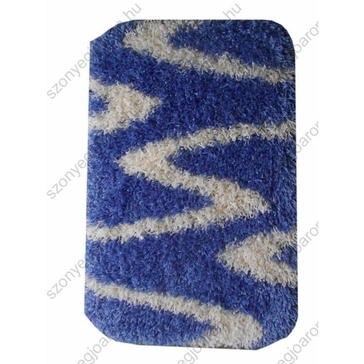 Nefelejcs Shaggy Kék Fehér Ágyelő 50x80 shaggy szőnyeg webáruház
