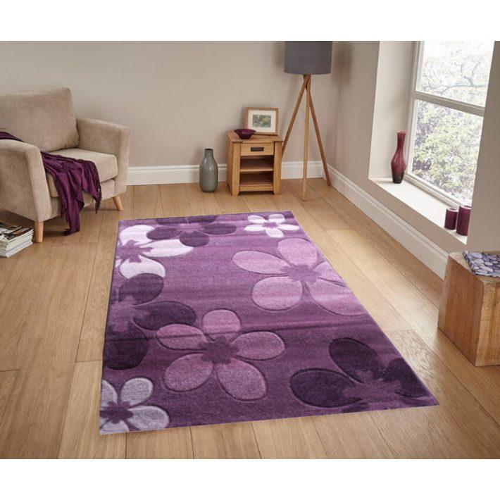 Sofia virágos Lila szőnyeg 160x220cm