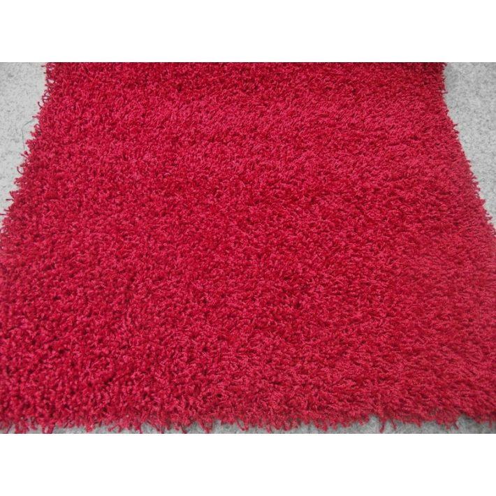 Csavart szálú Shaggy minőségi padlószőnyeg 4 m széles bordó színben