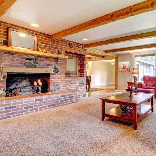 Buklé padlószőnyeg 4 m széles narancs színű