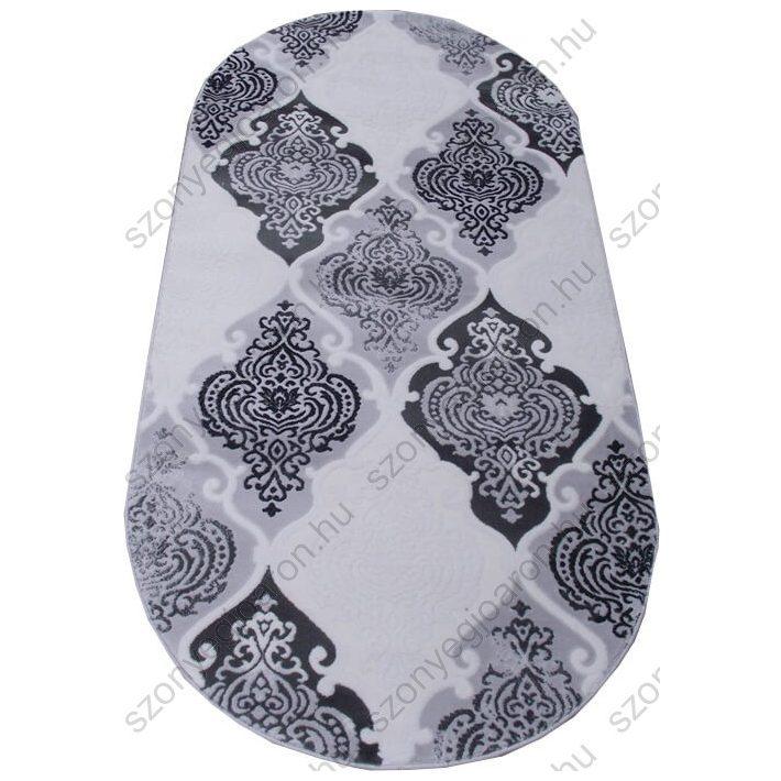 Carmela fekete krém szürke Nyírt szőnyeg 80 x 150 cm