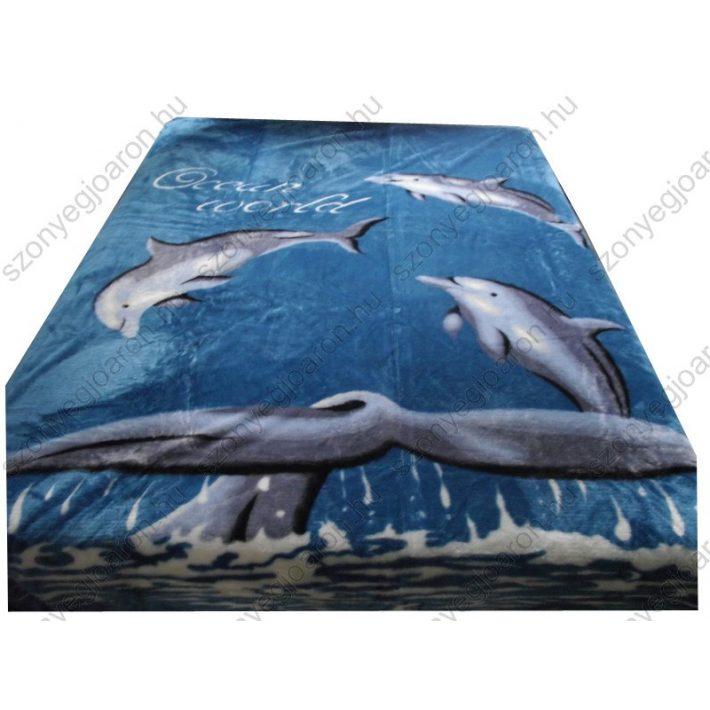 Benno Kék delfines Ágytakaró Pléd 200 x 240 cm